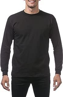 Men's Heavyweight Cotton Long Sleeve Crew Neck T-Shirt