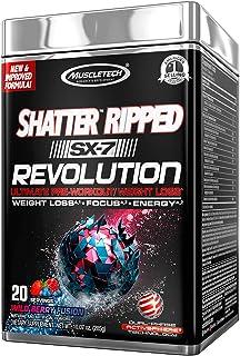 Pre Workout + Weight Loss | MuscleTech Shatter Ripped SX-7 Revolution | Preworkout Energy Powder for Men & Women | Max Str...