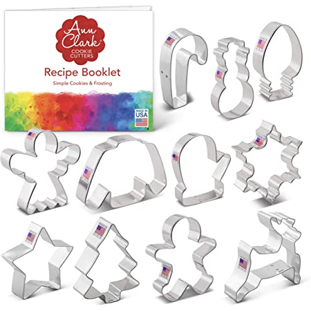 US Tin Plated Steel Ann Clark Metal Cookie Cutters for Every Season Set 11 piece