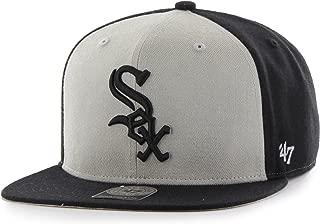 MLB Chicago White Sox Sure Shot Accent Captain Adjustable Snapback Hat, One Size, Black