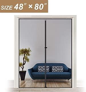 Hanging Magnetic Screen Door 48 x 80, Mosquito Door Screen Magnet Fit Doors Size Up to 48