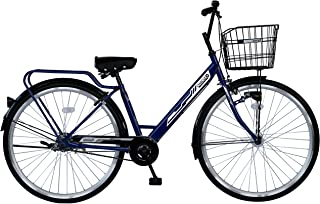 CHACLE(チャクル) 軽くて パンクしない自転車 シティサイクルV type-S 27インチ [BAA適合車/シングルスピード/8倍明るいLEDオートライト/光るパーツ] CHQ-CC270V-HDR-BAA