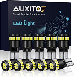 AUXITO 194 LED Light Bulb 6000K White Super Bright 168 2825 W5W T10 Wedge 24-SMD 3014 Chipsets LED Replacement Bulbs Error...
