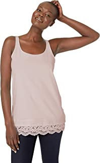 Women's Long Cami with Lace Hem