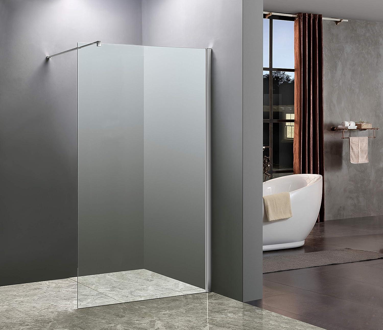 Elbe® Duschwand Glas 20x20cm, Duschwand mit einer Dicke von 20mm.  Duschabtrennung Transparentes, gehärtetes Glas mit Nano Beschichtung