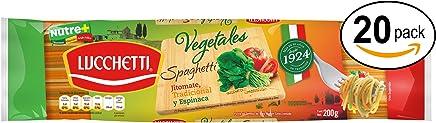 Lucchetti Spaghetti Vegetales, 200 g x 20 paquetes