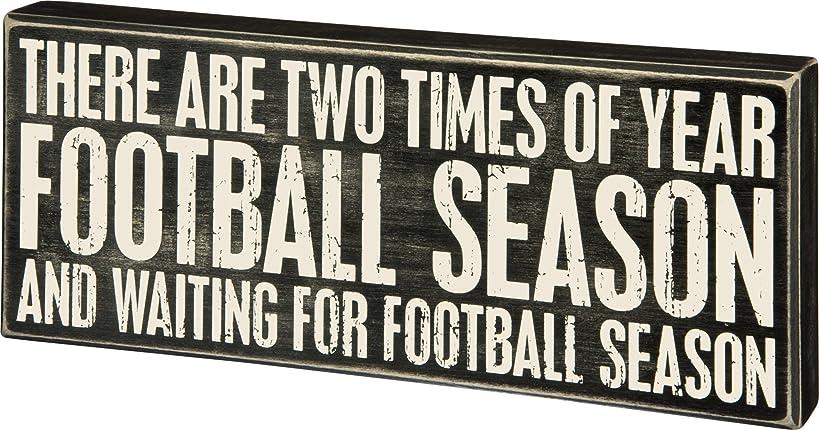Primitives by Kathy Classic Box Sign, Football Season