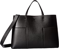 0bccc6092f Search Results. Black/Black. 234. Tory Burch. Block-T Triple Compartment  Tote