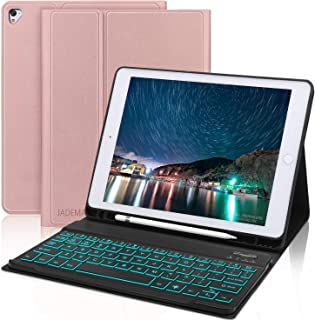 Keyboard Case 9.7 inch [with Pencil Holder] for iPad 2018(6th Gen),iPad Pro 2017 (5th Gen),iPad Pro 9.7,iPad Air 2 and iPad Air, Auto Wake/Sleep, iPad Case with Keyboard, Rose Gold
