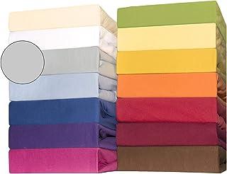 Bebisbomull dra-på-lakan för barnmadrasser, 60 x 120 till 70 x 140 cm, CelinaTex Lucina Minis, bomull, silvergrå, dubbelpa...