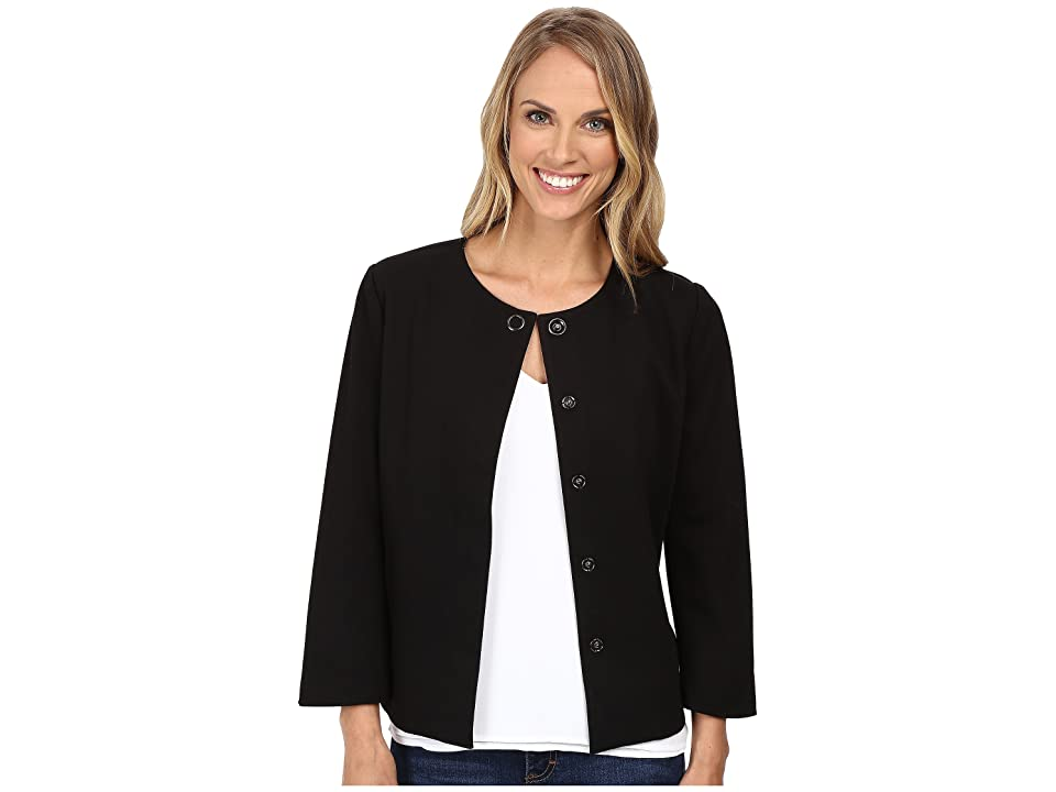 NYDJ Snap Front Jacket (Black) Women