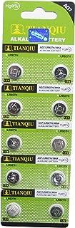 10 Tianqiu AG7 / 395A / LR927 / LR927H / LR57 Button Cell 1.5V Battery Long Shelf Life 0% Mercury (Expire Date Marked)