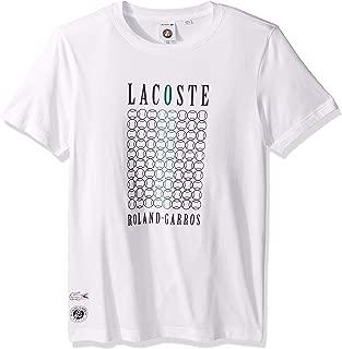 Lacoste Men's Sport Short Sleeve Logo W/Tennis Graphic T-Shirt