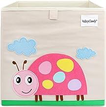 Valleycomfy - Caja de almacenaje de juguetes para niños, cubo plegable de dibujos animados, organizador, cesta para ropa de armario, zapatos, juguetes y puntos, 33 x 33 x 33 cm beige Beatles