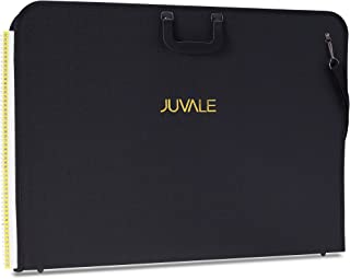 Juvale Art Portfolio Case With Handles for Artwork, Drawings, Plans Black, 28 x 20.5 Inches