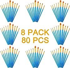 Aibecy 6pcs//Pack Watercolor Brush Pen kit set Water Storage nylon Hair Flat punta tonda per colore solido pigmento pittura di calligrafia Artist