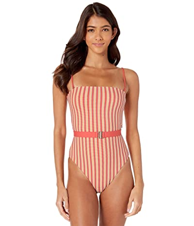 L*Space Lay It On the Line Lockheart One-Piece (Tangerine) Women