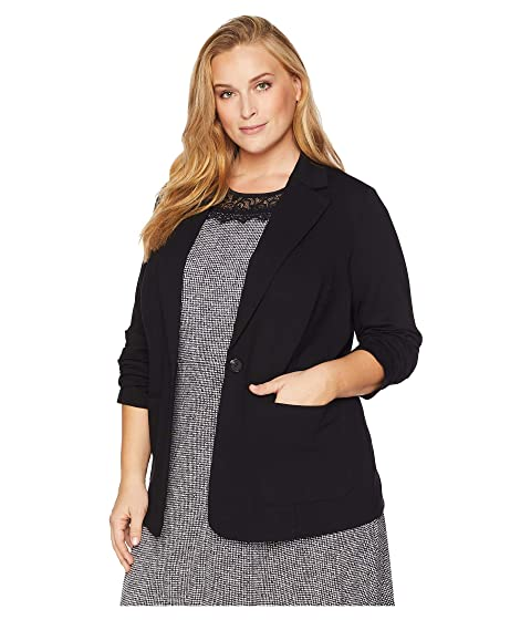 66a3a099bf7aa Vince Camuto Specialty Size Plus Size Ruched Sleeve Ponte Two-Pocket ...