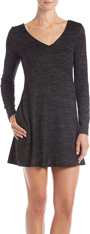 A. Byer Fuzzy LaceUp Back Swing Dress