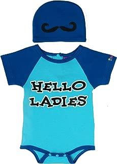 Sozo Baby-Boys Newborn Hello Ladies Bodysuit and Cap Set