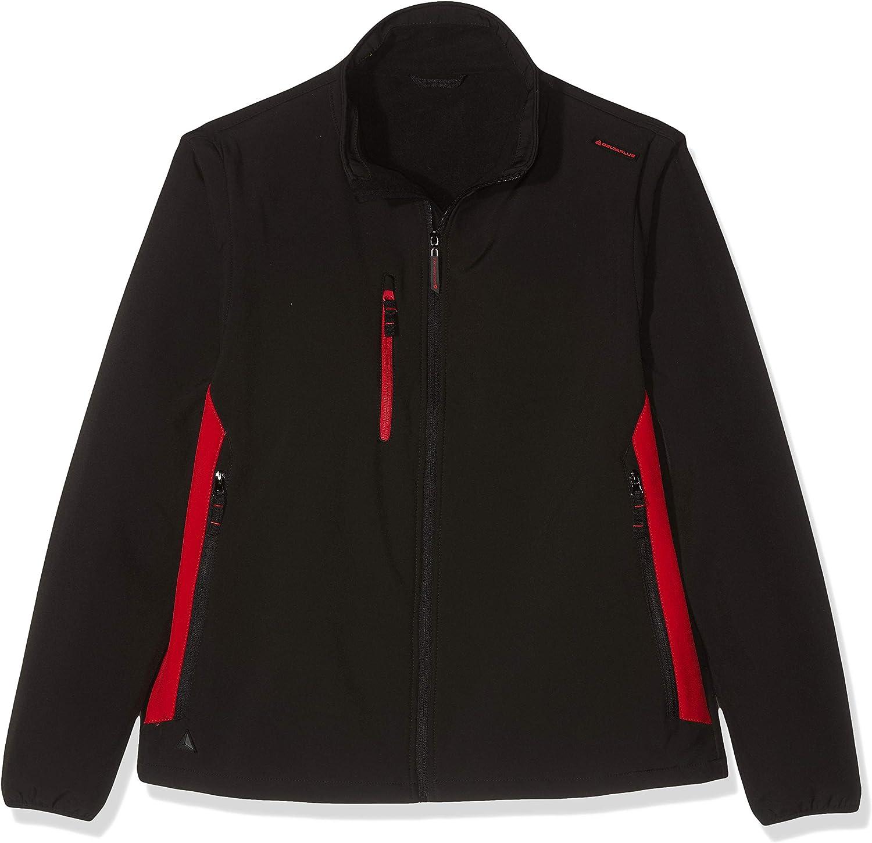 Delta Plus MYSE2NRXX Softshell-Jacke, 96% Polyester 4% Elasthan, Abnehmbare rmel, Schwarz-Rot, XXL, 1 Stück