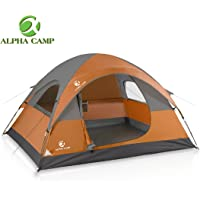 ALPHA CAMP Easy Setup Dome Tent with Foot Mat