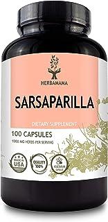 Sarsaparilla 100 Capsules 1000 mg | Filled with Organic Sarsaparilla Root | Non-GMO