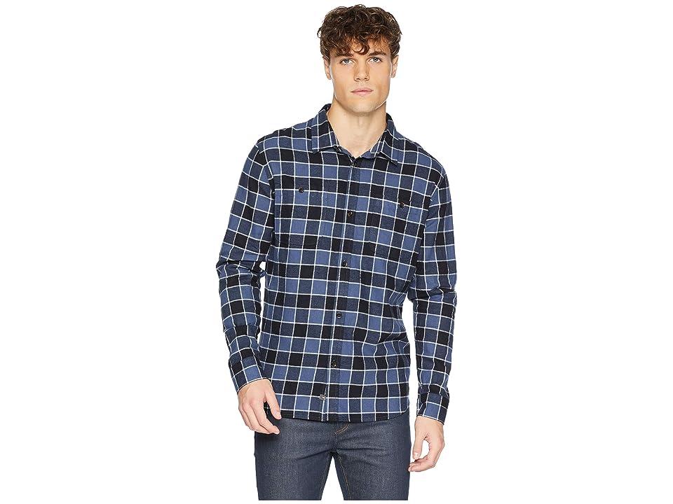 Quiksilver Waterman Cold March Long Sleeve Flannel Shirt (Parisian Night) Men