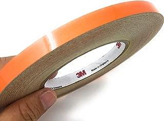 JNK NETWORKS 0.4 inch by 150 Foot Car Reflective Body Rim Stickers Decoration Strip (Orange)