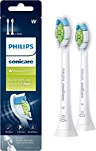 Genuine Philips Sonicare Diamondclean Replacement Toothbrush Heads, HX6062/65, Brushsync Technology, White 2 pk