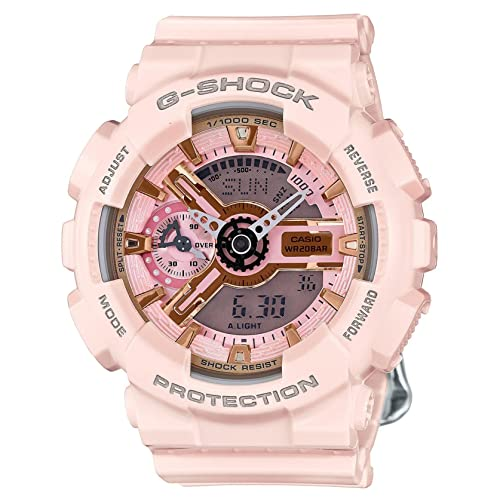 cbd71f7ea6f23 Casio G-Shock Gold and Pink Dial Pink Resin Quartz Ladies Watch  GMAS110MP-4A1