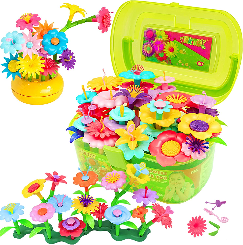 VERTOY Flower Garden Building Toy Set for 5 Year 6 3 Gi Old 4 Las Vegas Mall Nashville-Davidson Mall
