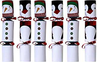 Iconikal 9-inch Christmas No-Snap Party Favor, Snowmen & Penguins, 6-Pack