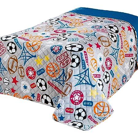 Delindo Lifestyle Copriletto Singolo Sport Per Cameretta Bambini Ragazzo Blu Trapuntato 170x210 Cm Amazon It Casa E Cucina