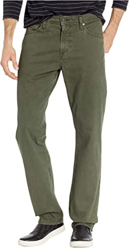Everett Slim Straight SUD Sueded Stretch Sateen in Sulfur Ash Green