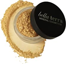 Bella Terra Mineral Powder Foundation | Long-Lasting All-Day Wear | Buildable Sheer to Full Coverage – Matte| Sensitive Skin Approved | Natural SPF 15 (Ivory) 9 grams