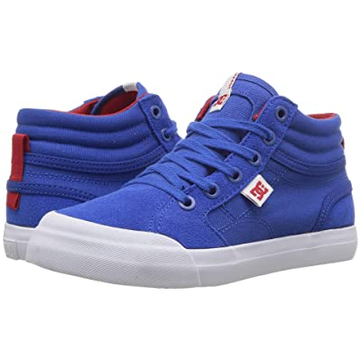 DC Kids Evan Hi (Little Kid/Big Kid) (Royal/True Red) Boys Shoes