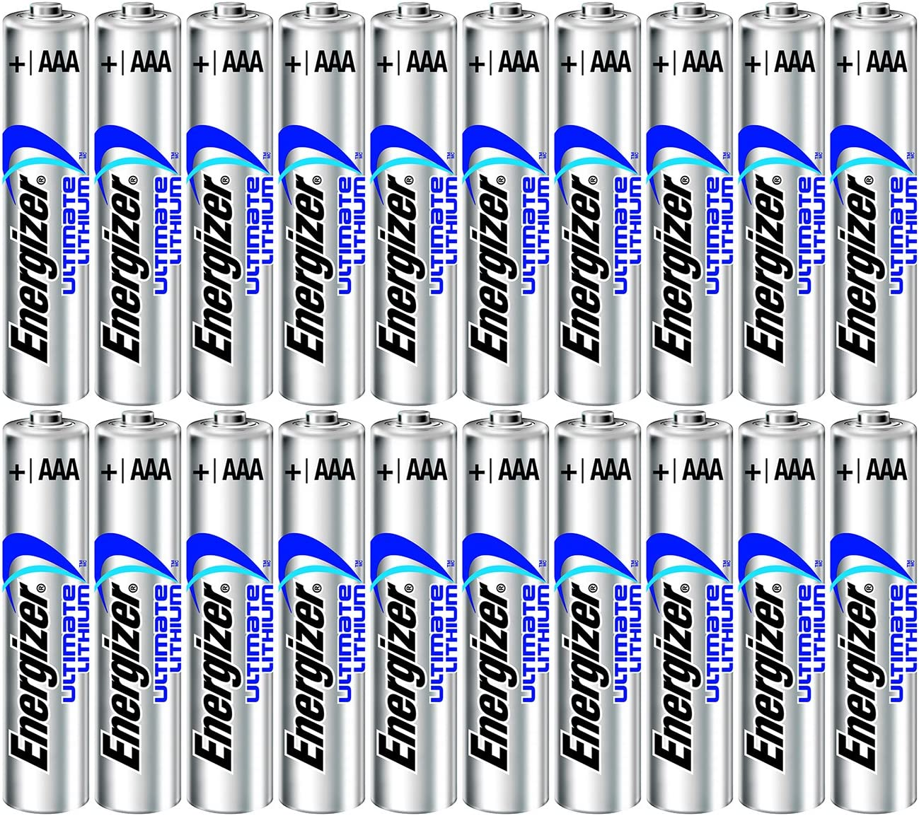 Energizer Ultimate Lithium AAA Size Batteries - 20 Pack - Bulk Packaging