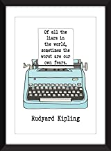 Rudyard Kipling - Of All The Liars in the World Quote - Unframed Print/Sin Marco