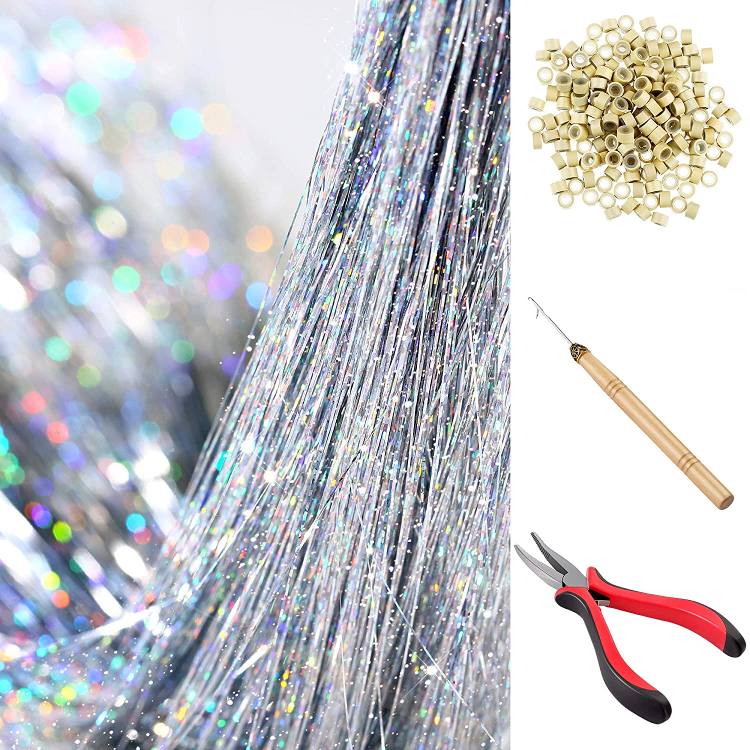 Super Special SALE held Hair Tinsel Max 90% OFF Strands Kit Extensions Fairy Tins