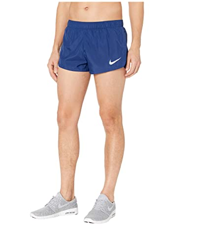 Nike 2 Lined Running Shorts (Blue Void/Reflective Silver) Men