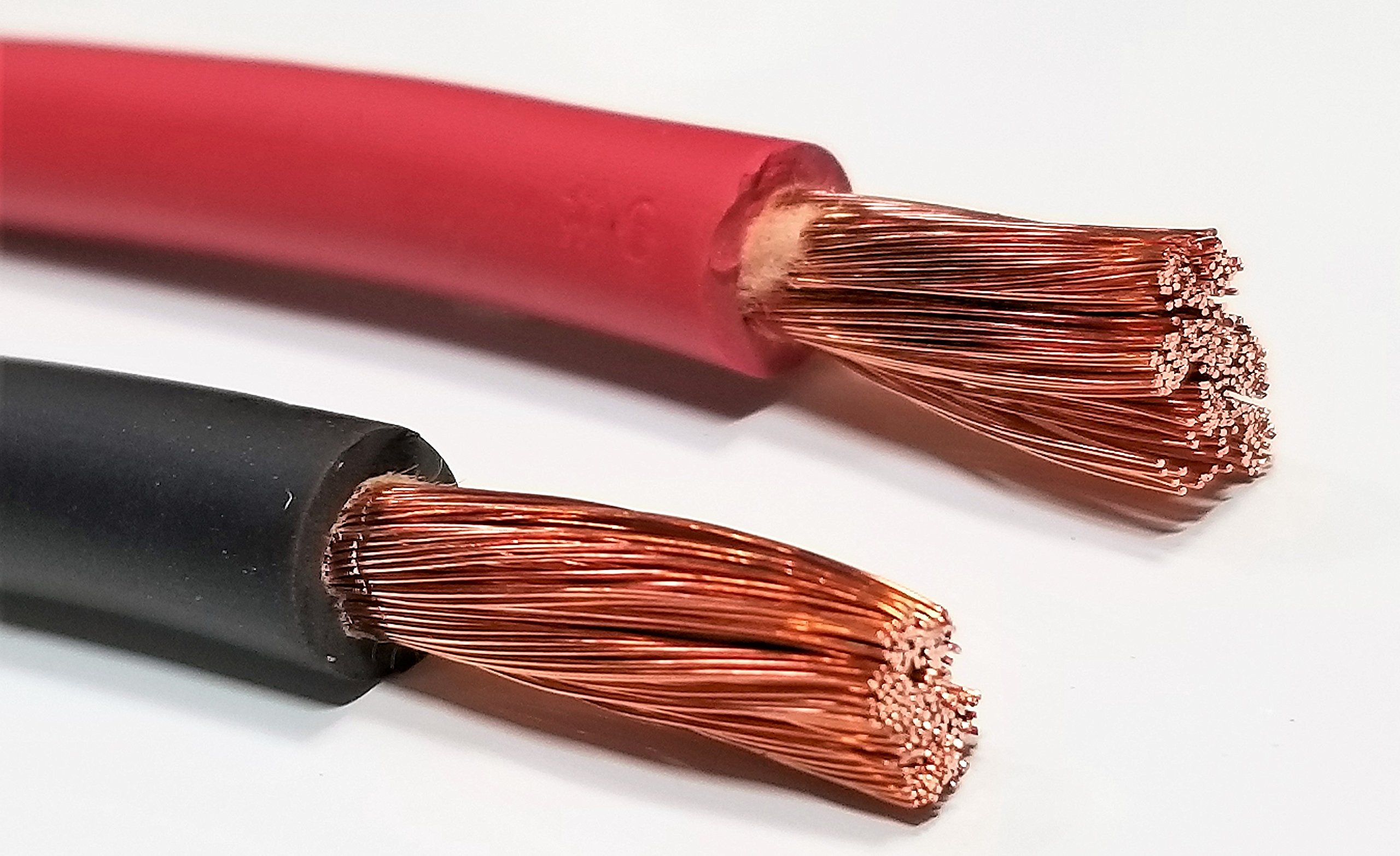 AC/DC WIRE 6 Gauge 6 AWG Welding Battery Pure Copper Flexible Cable Wire -  Car, Inverter, RV, Trucks (15 ft BLACK + 15 ft RED) - - Amazon.comAmazon.com