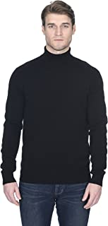 Men's Turtleneck Sweater Cashmere Merino Wool Long Sleeve Roll Neck Pullover