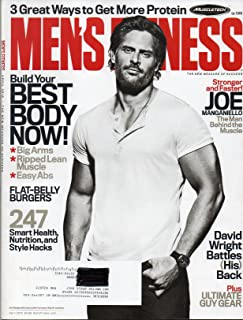 Men's Fitness April 2016 Magazine STRONGER AND FASTER: JOE MANGANIELLO, THE MAN BEHIND THE MUSCLE, WEARWOLF TURNED STRIPPER WITH NEW WIFE & MOVIE