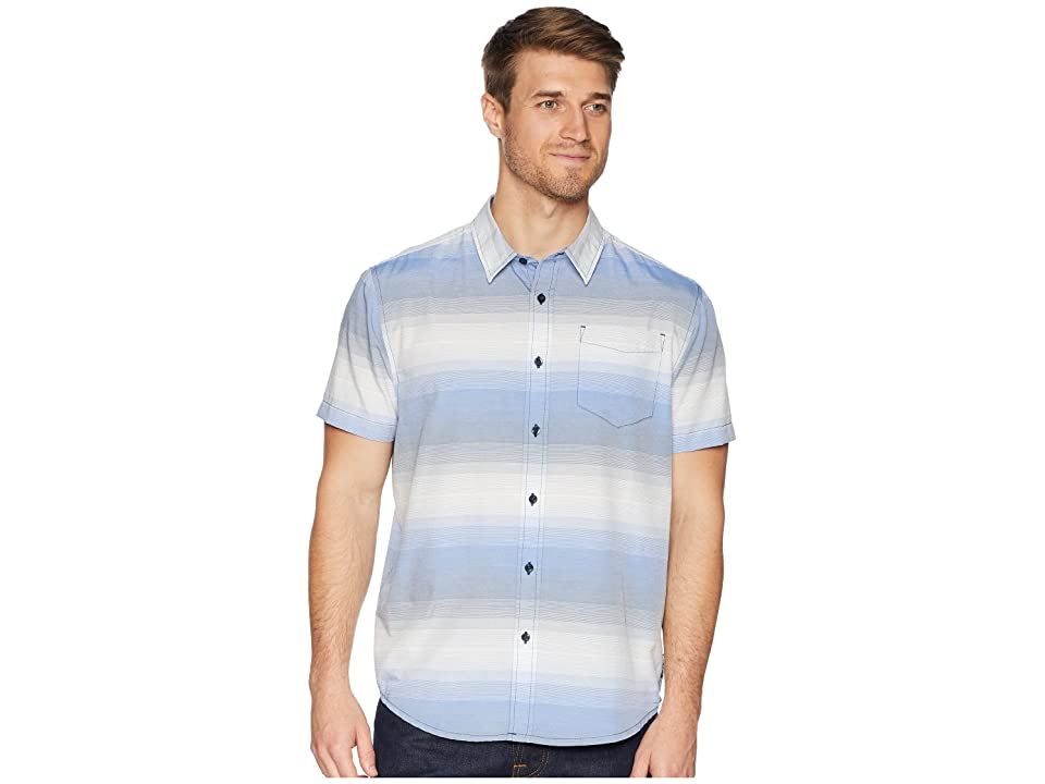 Prana Tamrack Stripe Short Sleeve (Equinox Blue) Men
