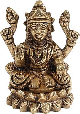 Haristore Small Brass Mahalakshmi on Lotus