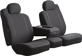 Fia SP87-30 BLACK Custom Fit Front Seat Cover Split Seat 40/20/40 - Poly-Cotton, (Black)