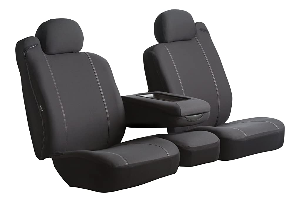Fia SP82-20 BLACK Custom Fit Rear Seat Cover Split Cushion 60/40 - Poly-Cotton, (Black)