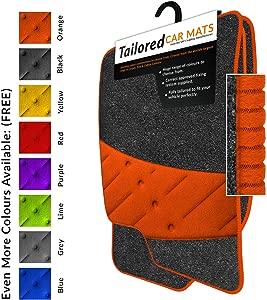 Car Mats Fit Renegade  2015   Anthracite Tailored Car Mats  amp  Orange Trim  amp  Orange Double Ultra Thick Full Width Heel Pad