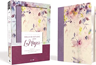 Biblia de Estudio para la Mujer NVI, Leathersoft/Tela Lila (Spanish Edition)